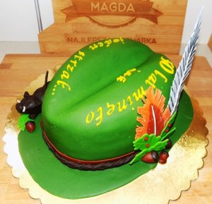 Tort kapelusz myśliwski